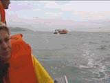 Barco utilizado na Praia do Rosa